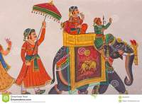 Indian Wall Painting editorial stock image. Image of ...