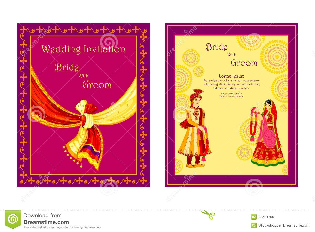 Punjabi Couple Wallpaper With Quotes Indian Wedding Invitation Card Template Editable Matik For