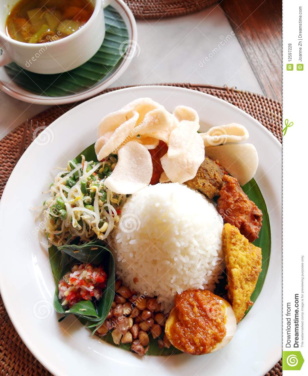 Cuisine Bali Indonesian Bali Ethnic Cuisine Stock Photo Image Of Cultural