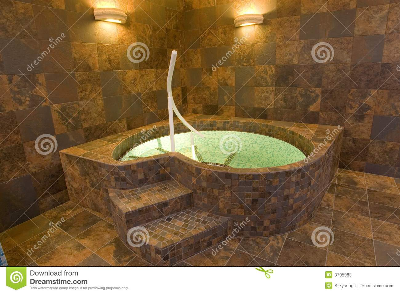 Jacuzzi Pool De Indoor Jacuzzi Pool Stock Image Image Of Decor Posh 3705983