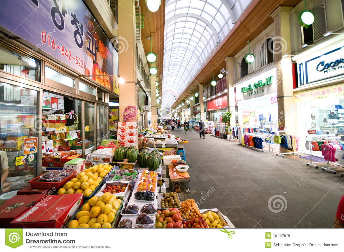 Stock Markets Open Time Indoor Market Of Iksan South Korea Editorial Photo