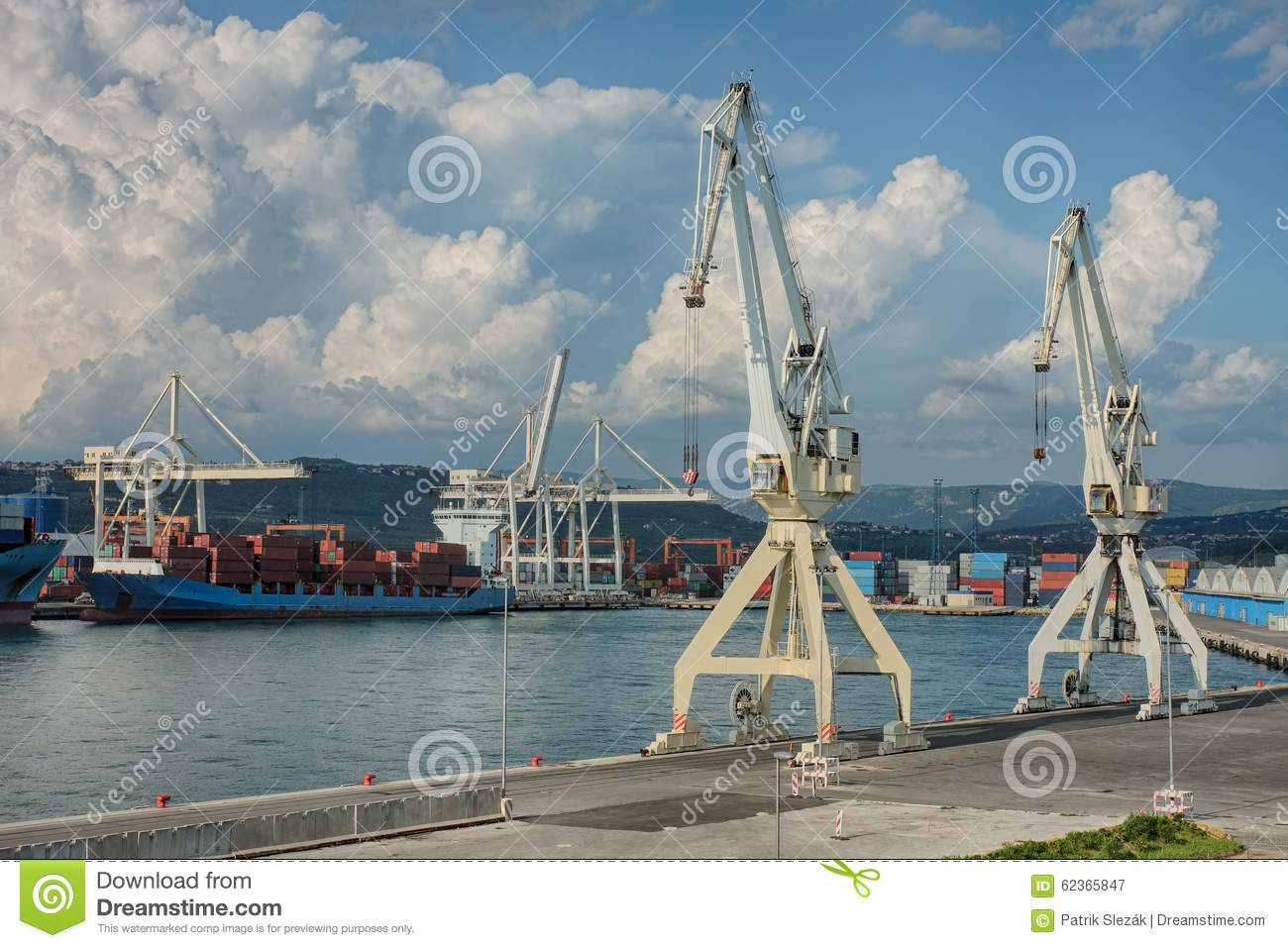 Mr White Koper Industrial Port Of Koper In Slovenia Stock Photo Image