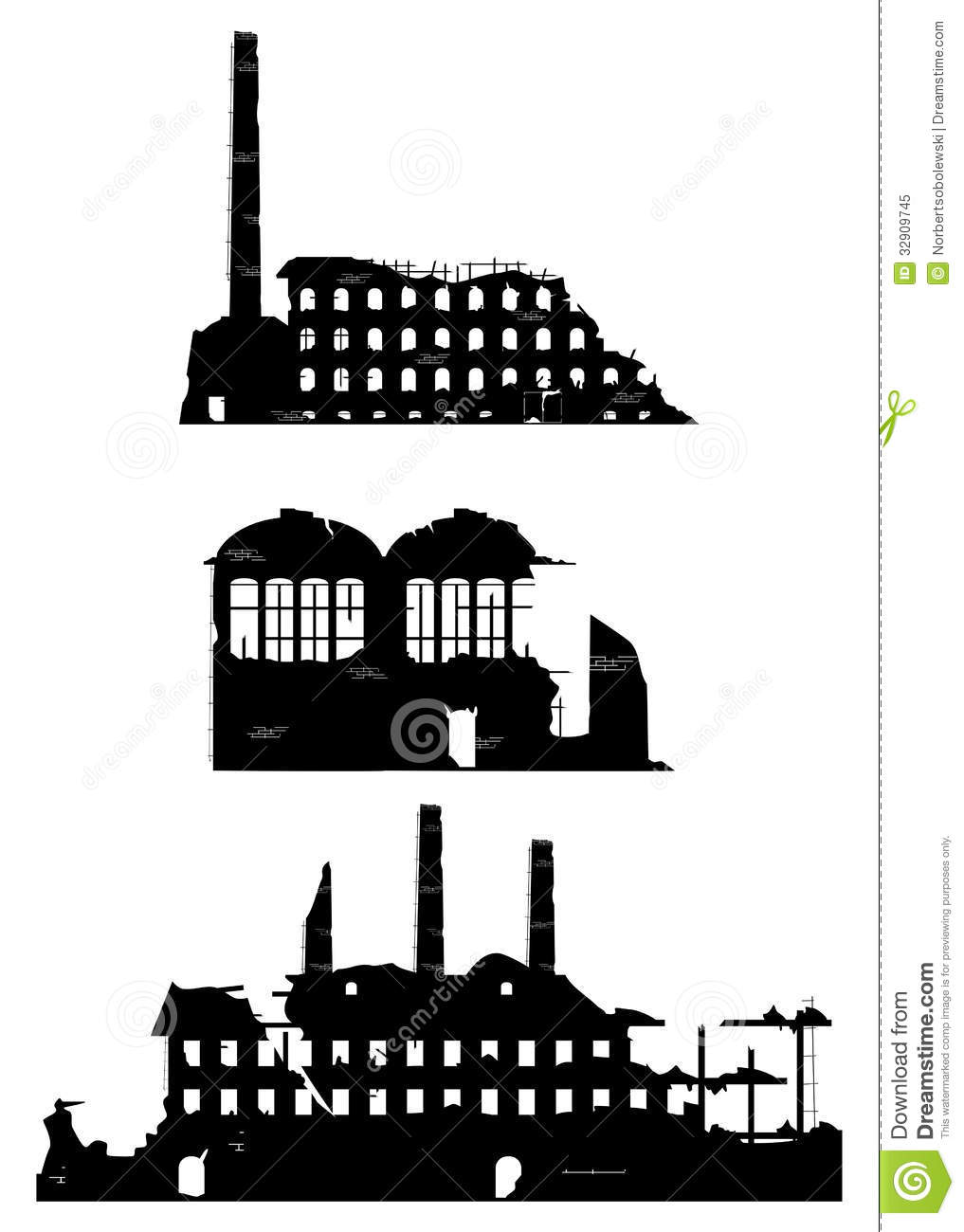 Halloween Stock Vector Auto Electrical Wiring Diagram Club K Home Page 1982 Kp61 Dash Industrial Ruins On A White Background