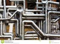 Industrial Stainless Steel Pipe Work Stock Image - Image ...