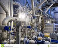 Industrial Stainless Steel Piping Stock Photo - Image ...