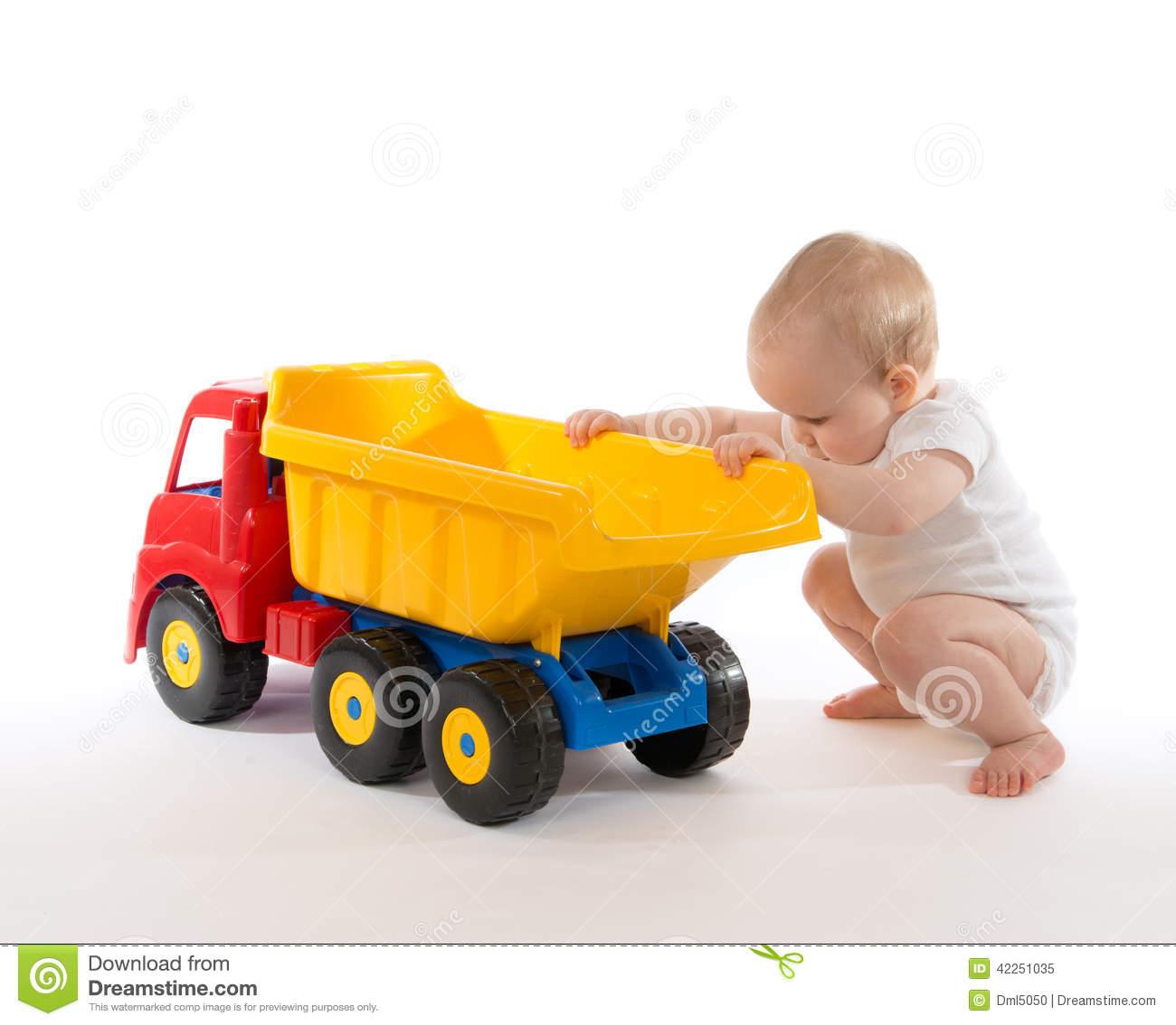 Baby Truck Infant Child Baby Boy Toddler Big Toy Car Truck Red Yellow