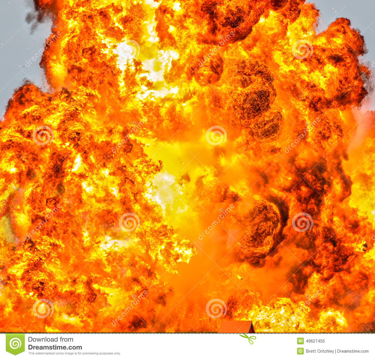 3d Roof Wallpaper Inferno Fire Background Stock Photo Image 49627455