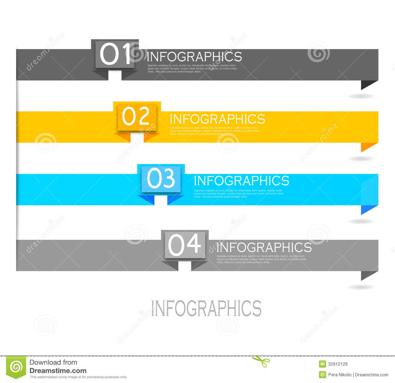 Royalty free stock photo download infographic banner design elements