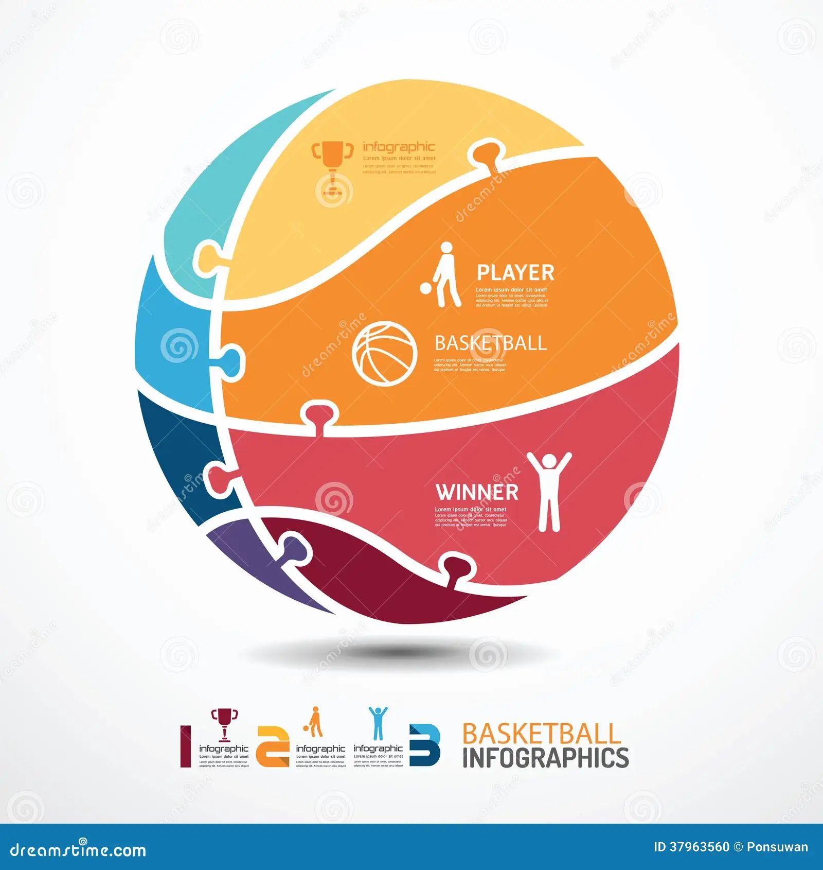 basketball infographic template