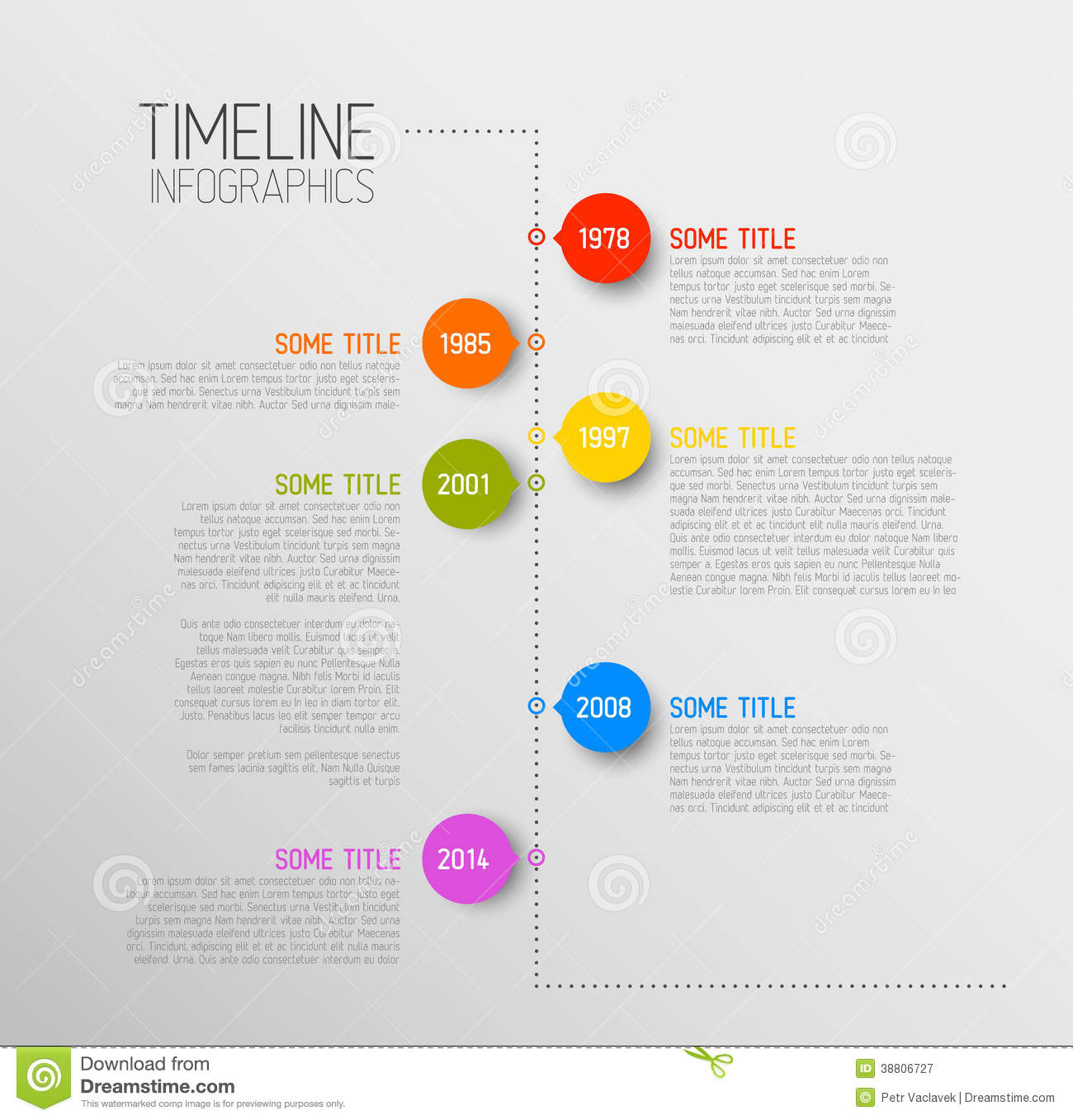 Easy Resume Maker Infographic Timeline Report Template Stock Vector Image