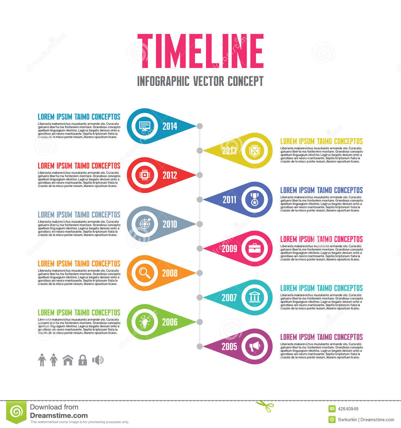 Kmart Application Apply Online For Your Local Area Infographic Vector Concept In Flat Design Style Timeline