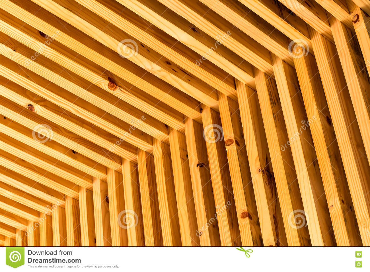 Slat Walls Inside Corner Slat Wall Stock Photo Image Of Beam Bright 80482044