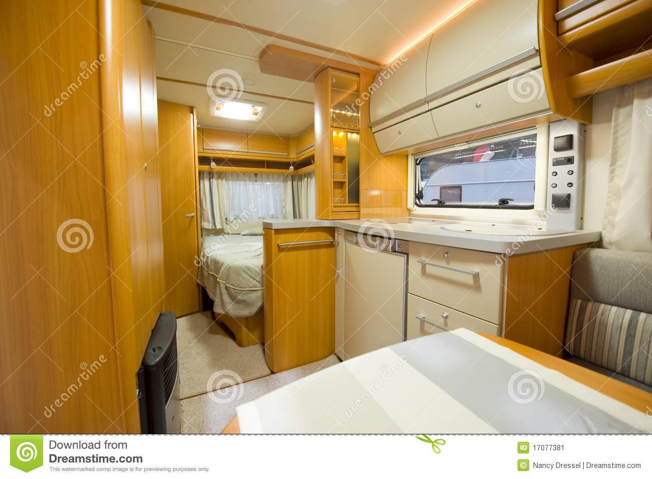 Decoration Interieur Camping Car Inside Motor Home Detail Stock Image. Image Of Chair