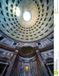 Inside The Pantheon: The Famous Dome With The Oculus. Rome ...