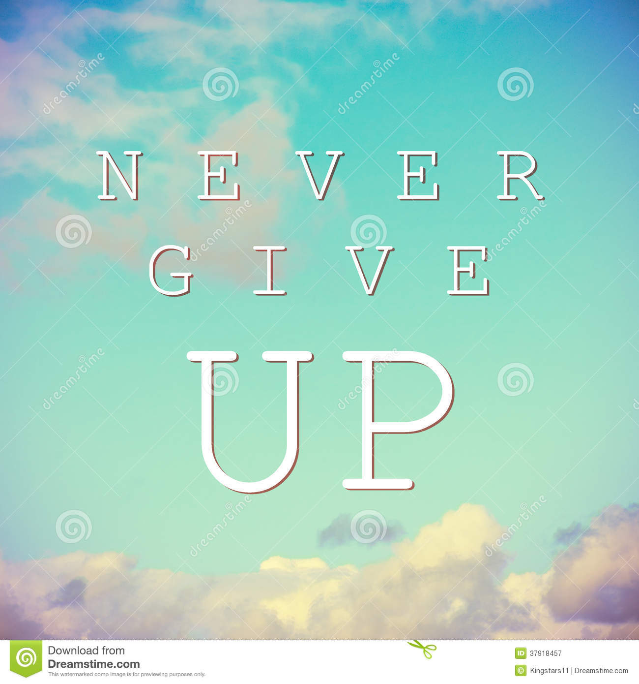 Download Free Encouragement Wallpaper Quotes Inspirational Quote On Vintage Sky Background Stock Image