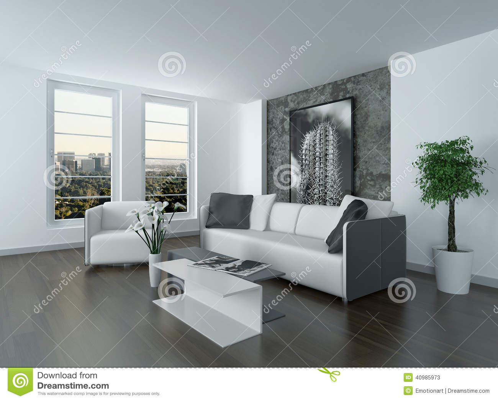 Salon Moderne Gris Et Blanc   Salon Moderne Blanc Frais Decoration ...