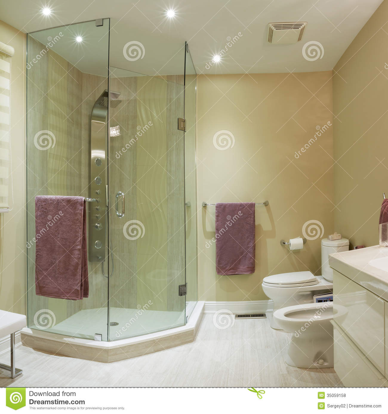 House Bathroom Design Interior Design Stock Photo Image Of Floor Household