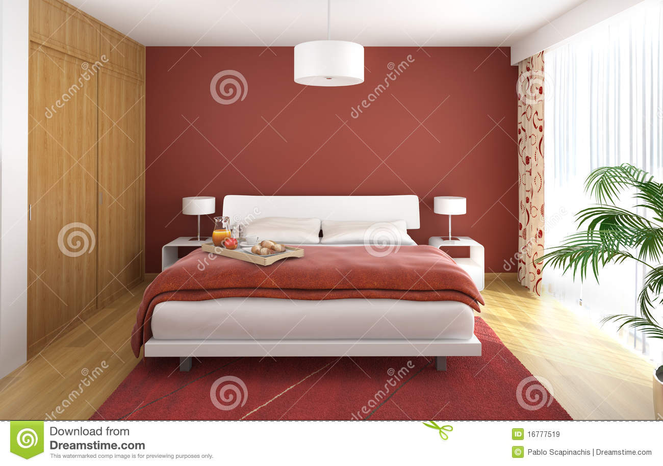 Bedroom Designer Free Interior Design Bedroom Red Royalty Free Stock Images