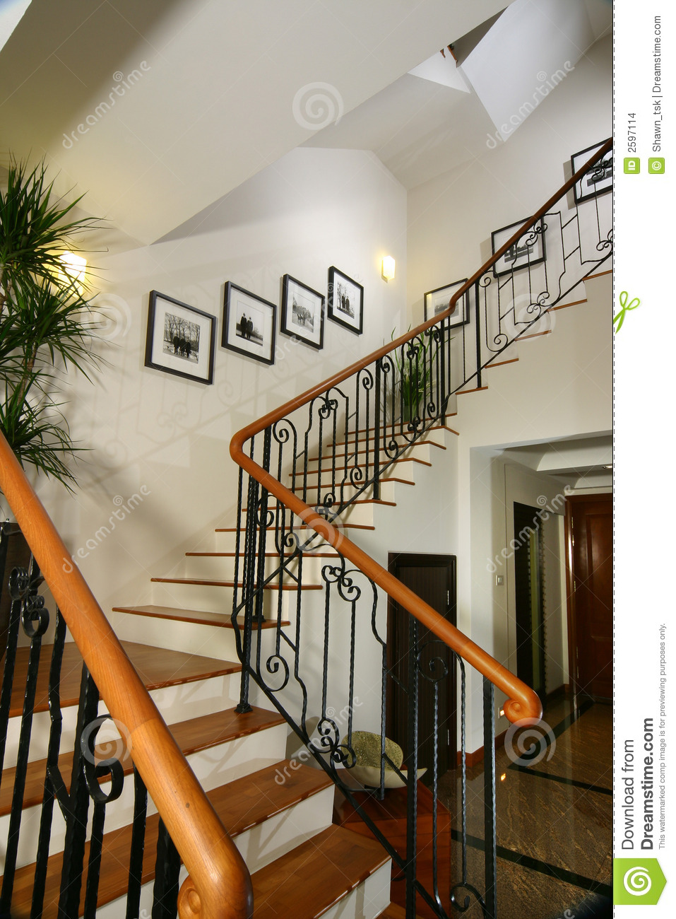 Interior Staircase Ideas Interior Design Stairs Stock Photo Image Of Light Trees 2597114