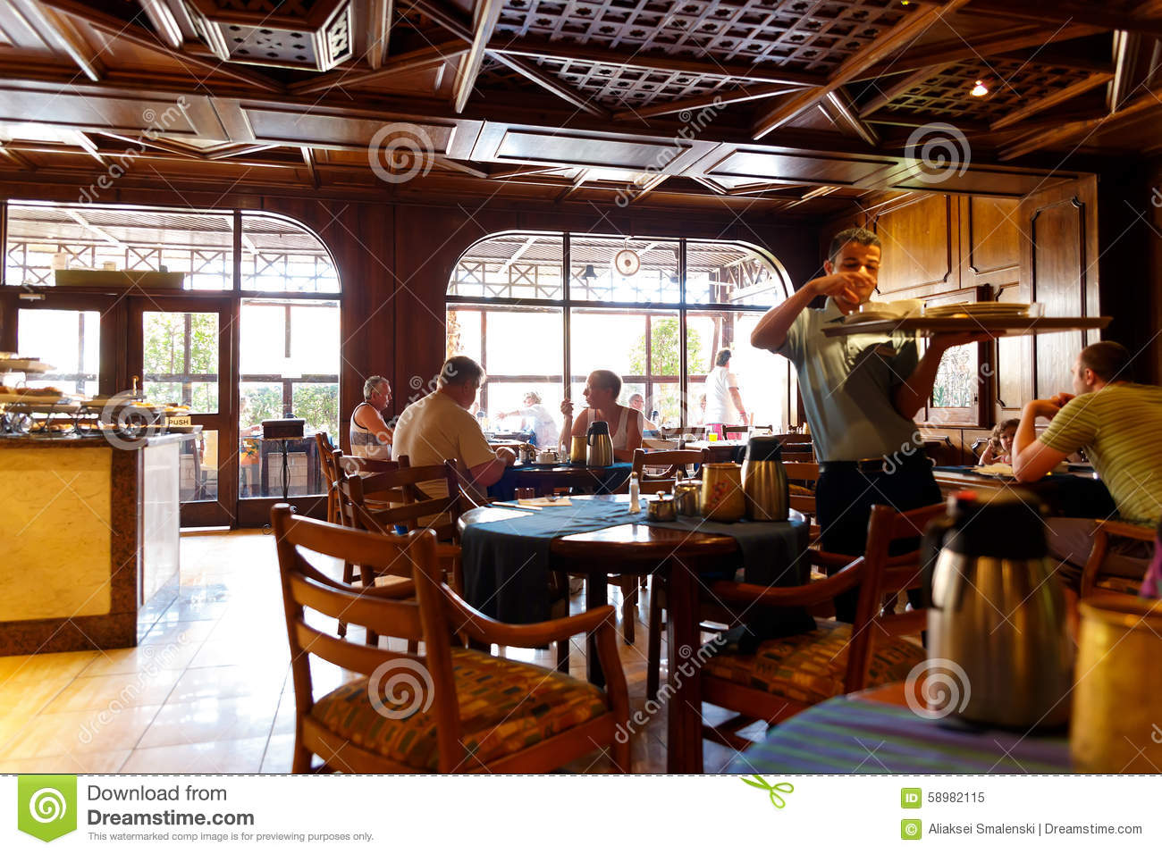 The Interior Of An Italian Restaurant In The Egyptian Resort Editorial Image Image Of Dishware Night 58982115