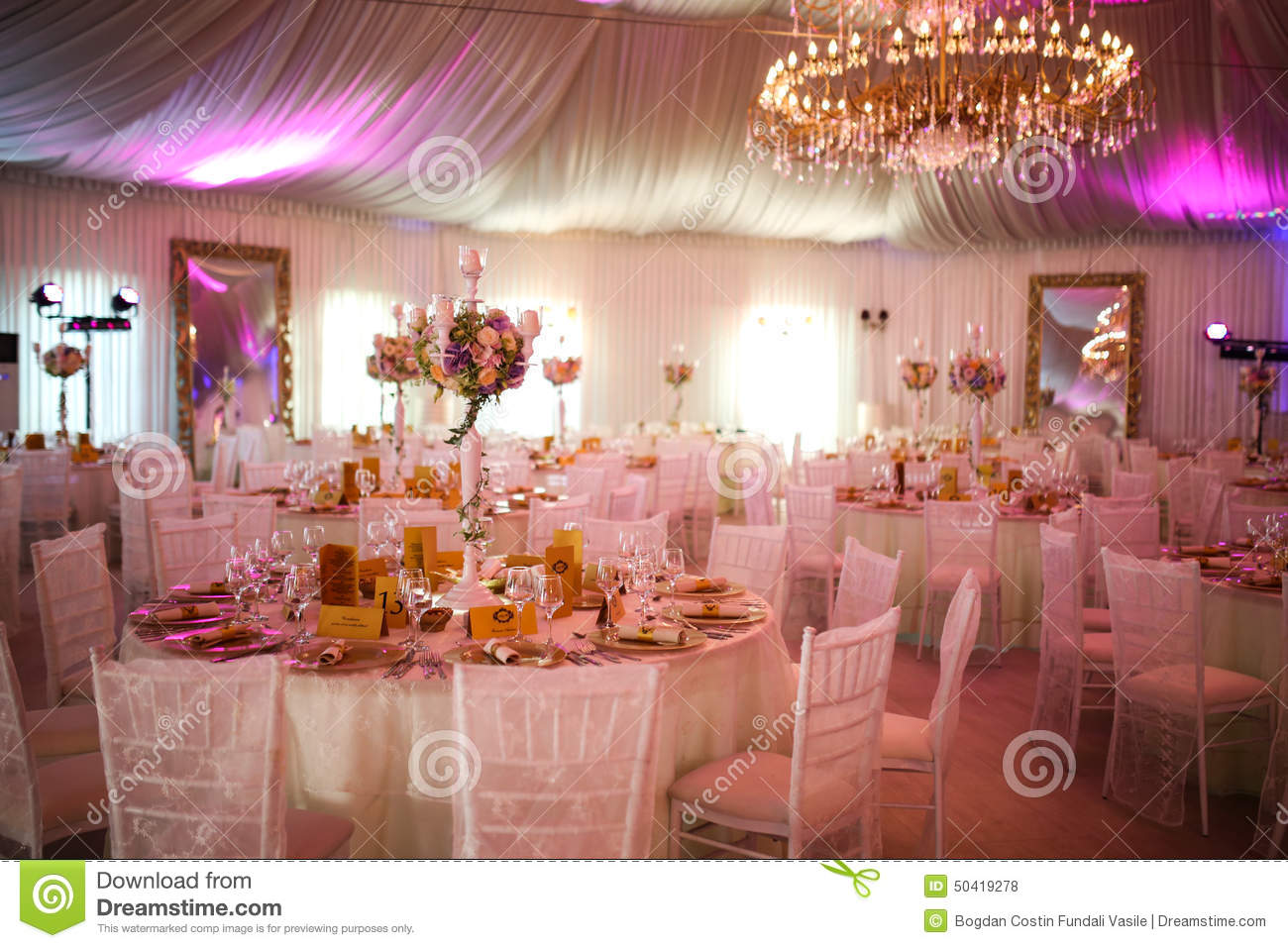 Decoration De Luxe Interior Of A Luxury White Wedding Tent Decoration Ready