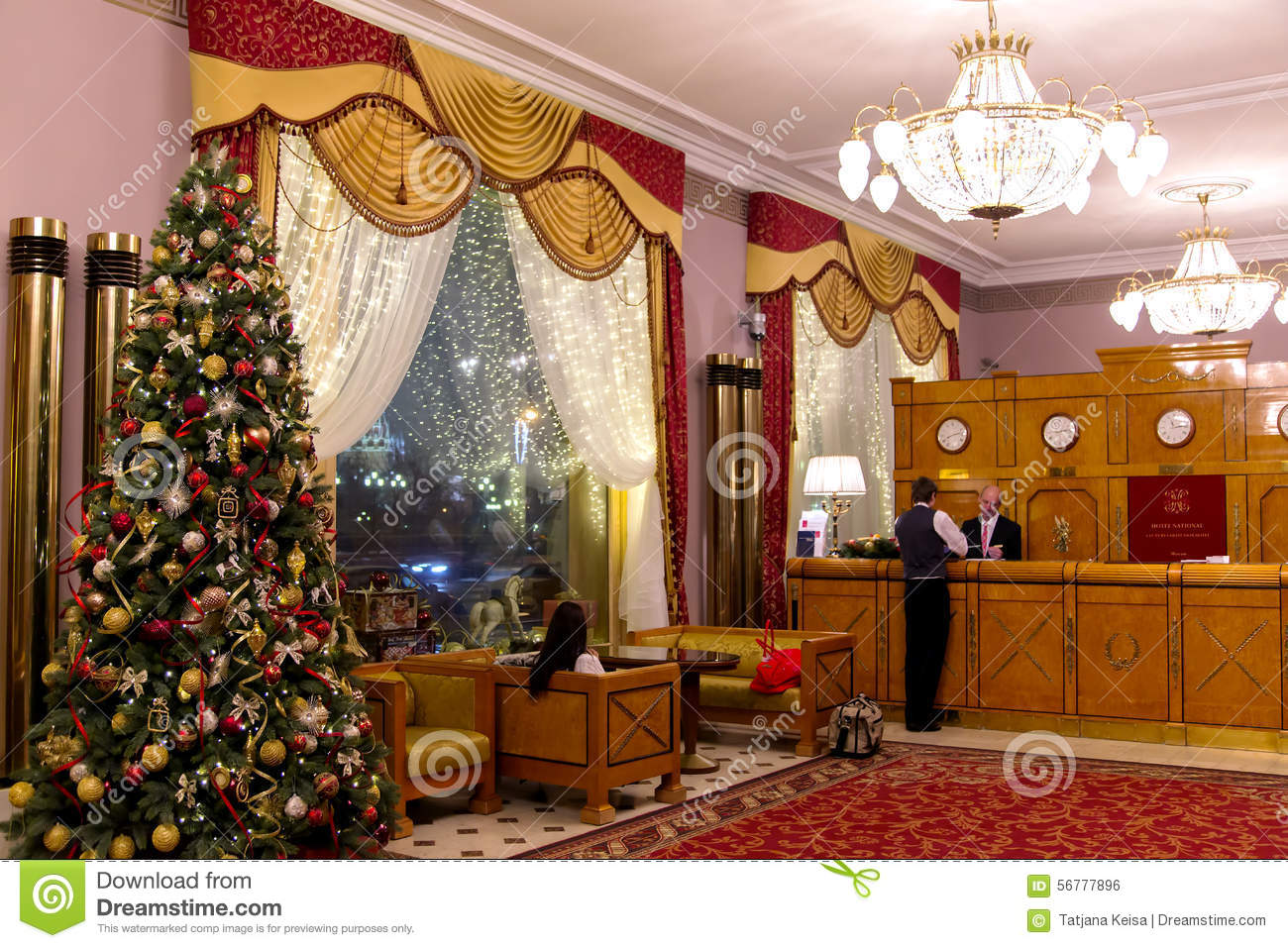House Inside Decoration Interior Of National Hotel In Moscow Editorial Photo