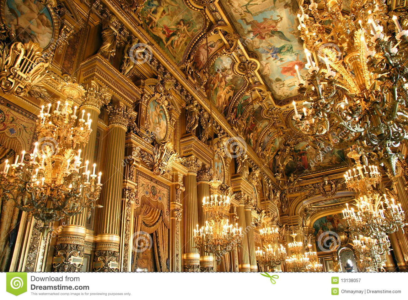 Interiors France Interior Of Opera Garnier In Paris Stock Image Image