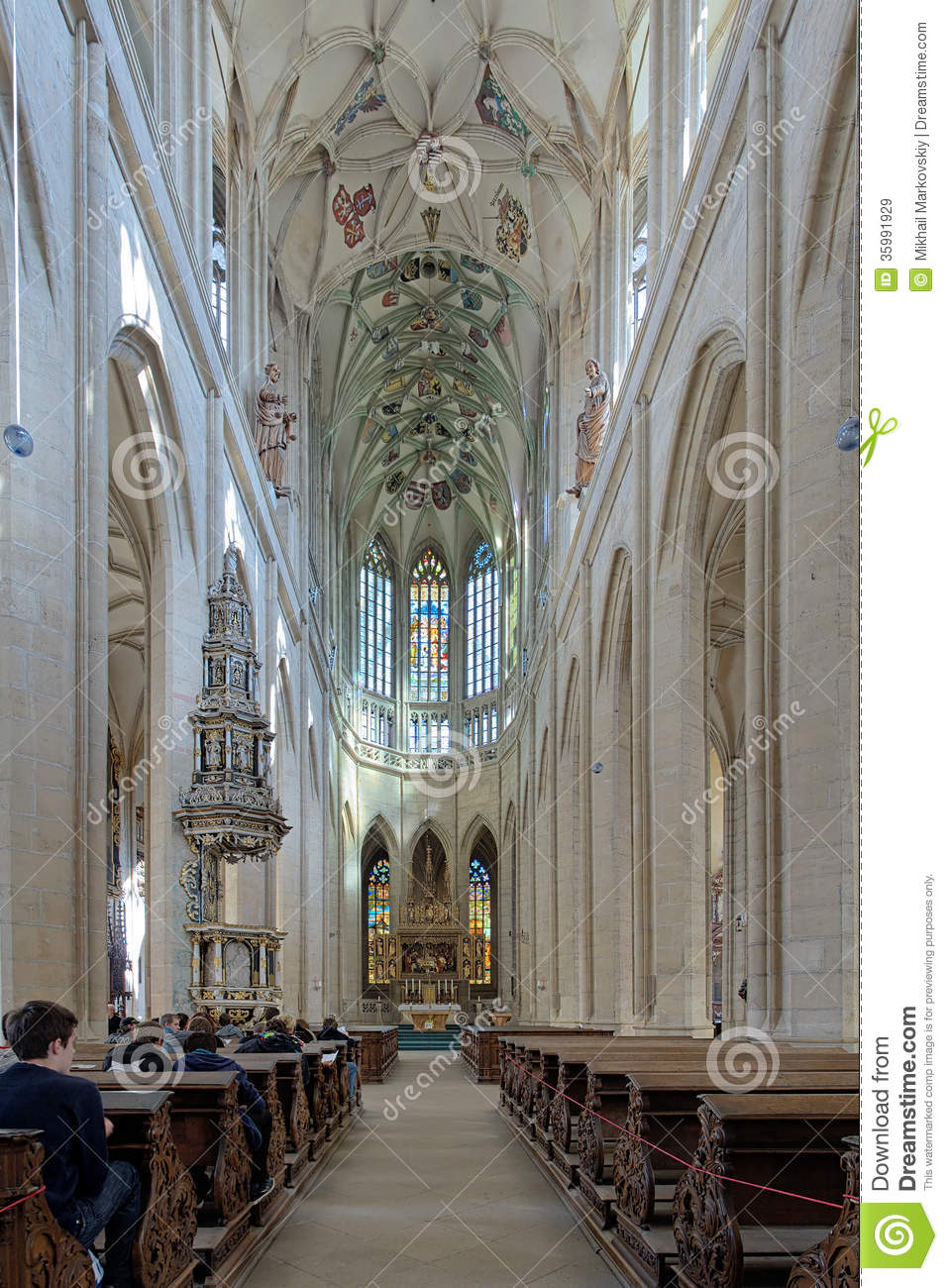 Dreamstime Images Interior Of St Barbara Church In Kutna Hora Editorial