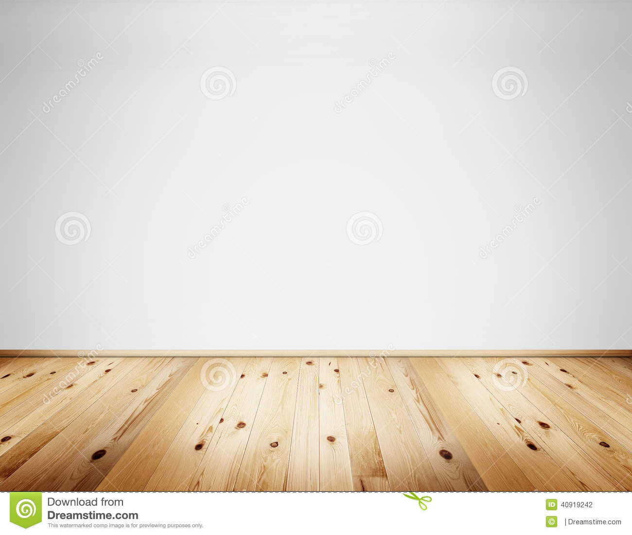 Wall Interior Interior With Wall And Wooden Floor Stock Illustration