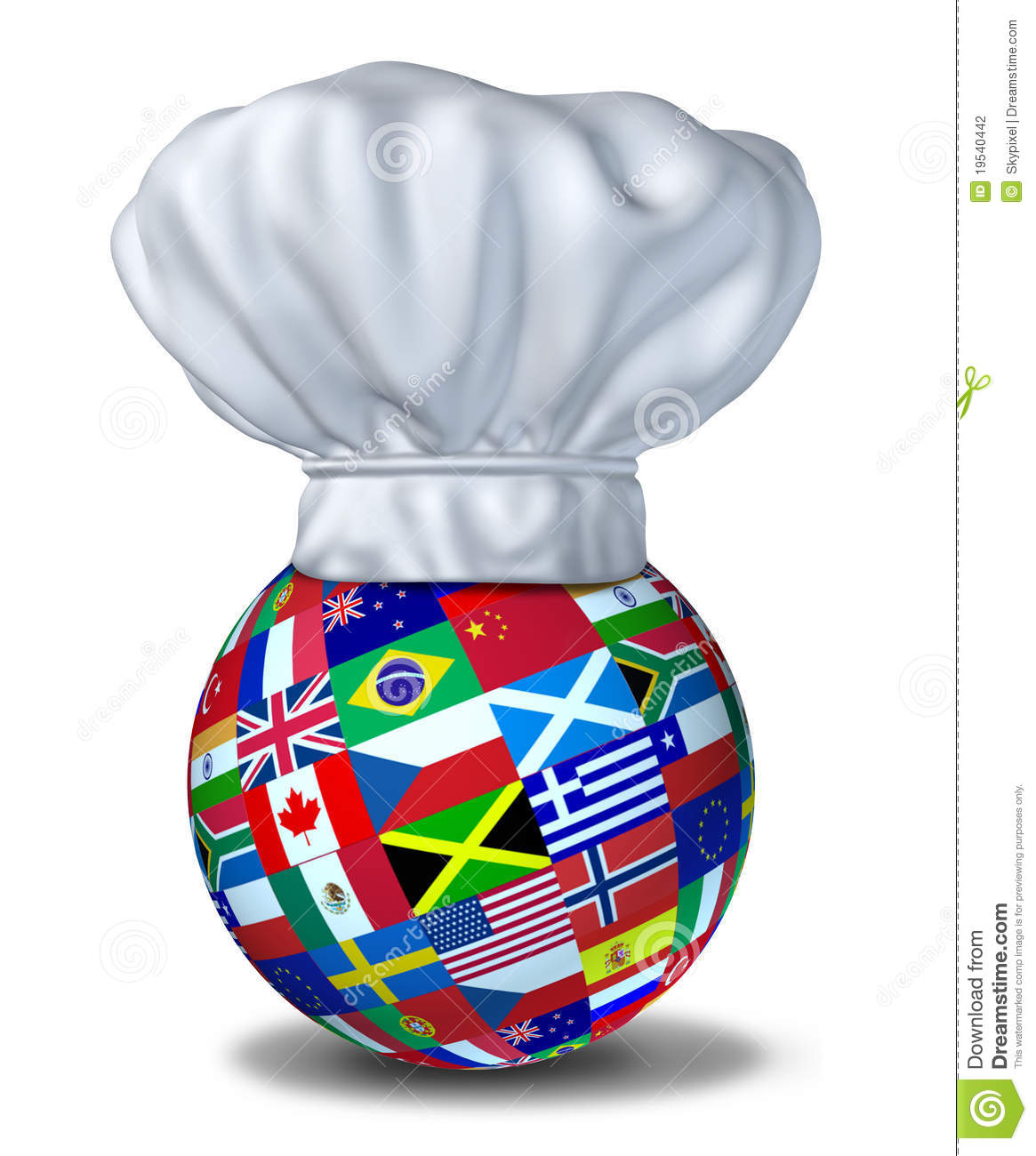 Restaurant Wereld Keuken International Cuisine Stock Photography Image 19540442