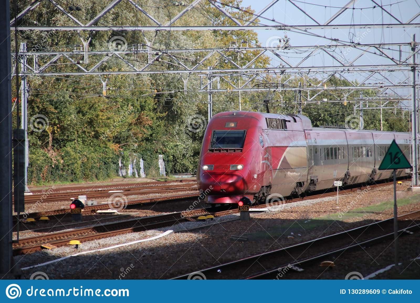 Paris Train International Train Thalys Between Amsterdam And Paris Passes
