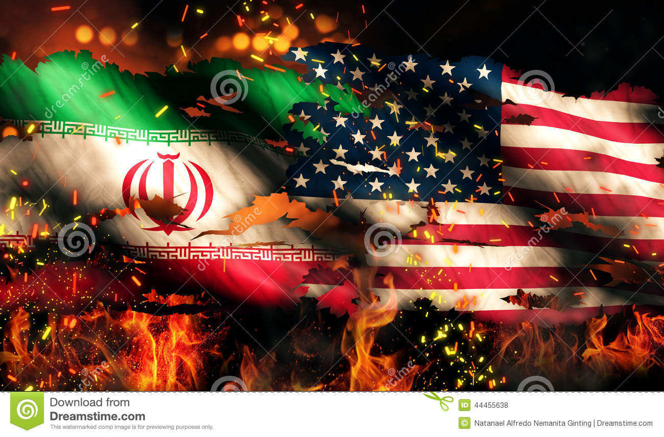 Danger 3d Wallpaper Download Iran Usa Flag War Torn Fire International Conflict 3d