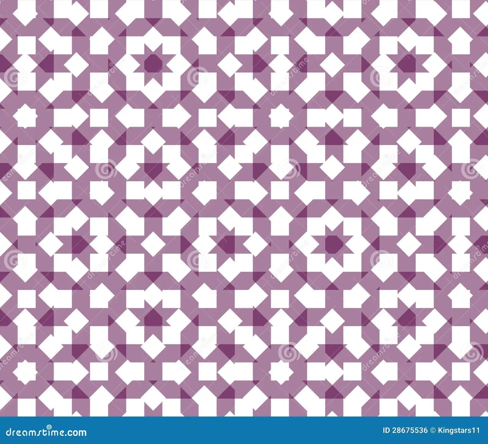 Black And White Wallpaper Decor Islamic Geometric Pattern Stock Illustration Image Of