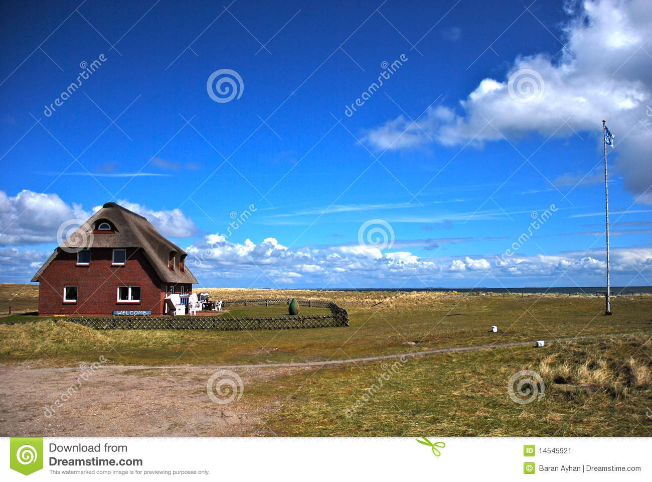 Sun Garden Sylt Isolate House With Garden Stock Image Image Of Isolation 14545921