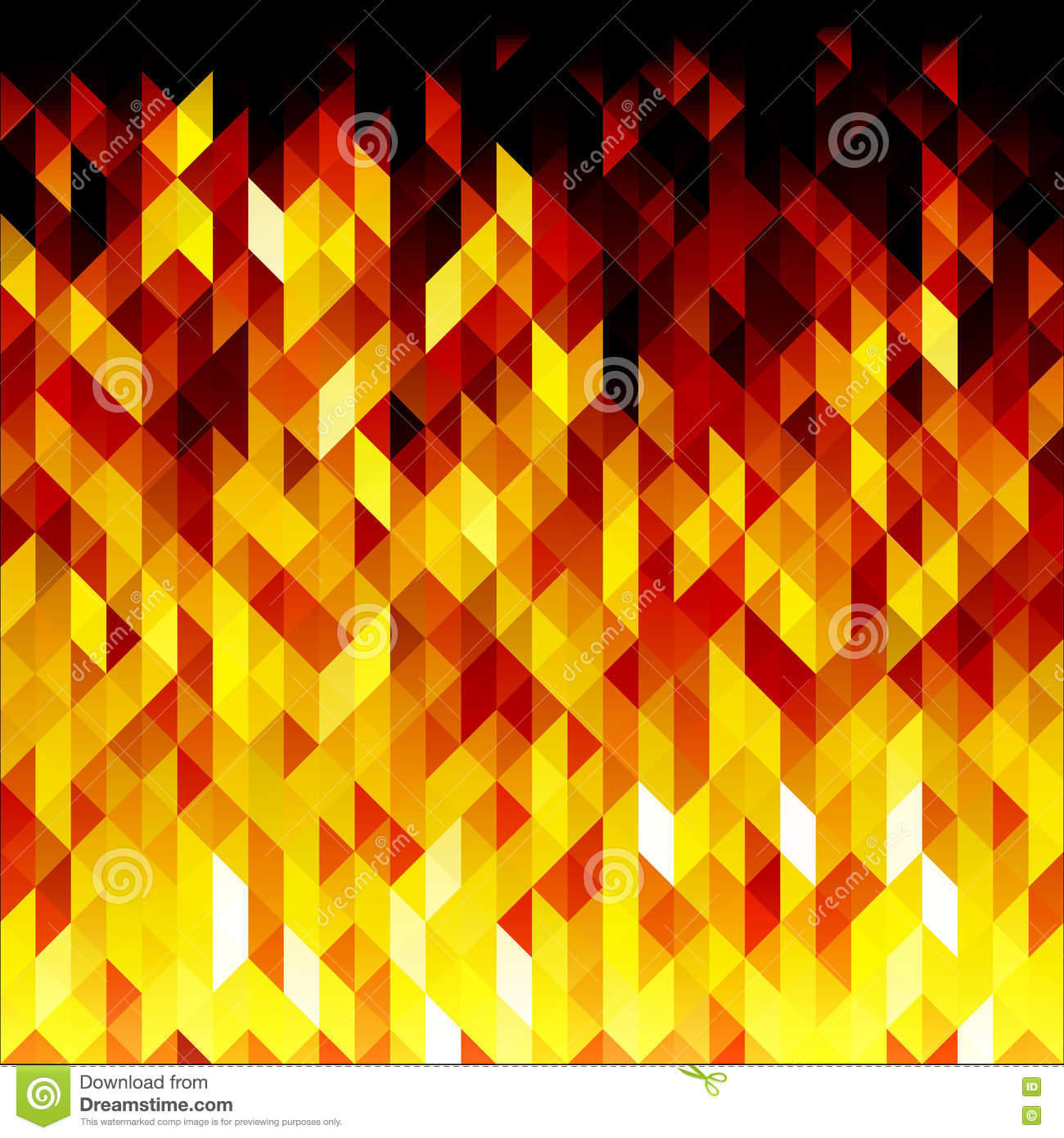 Red And Yellow Decor Abstract Polygonal Background Vector Royalty Free Stock