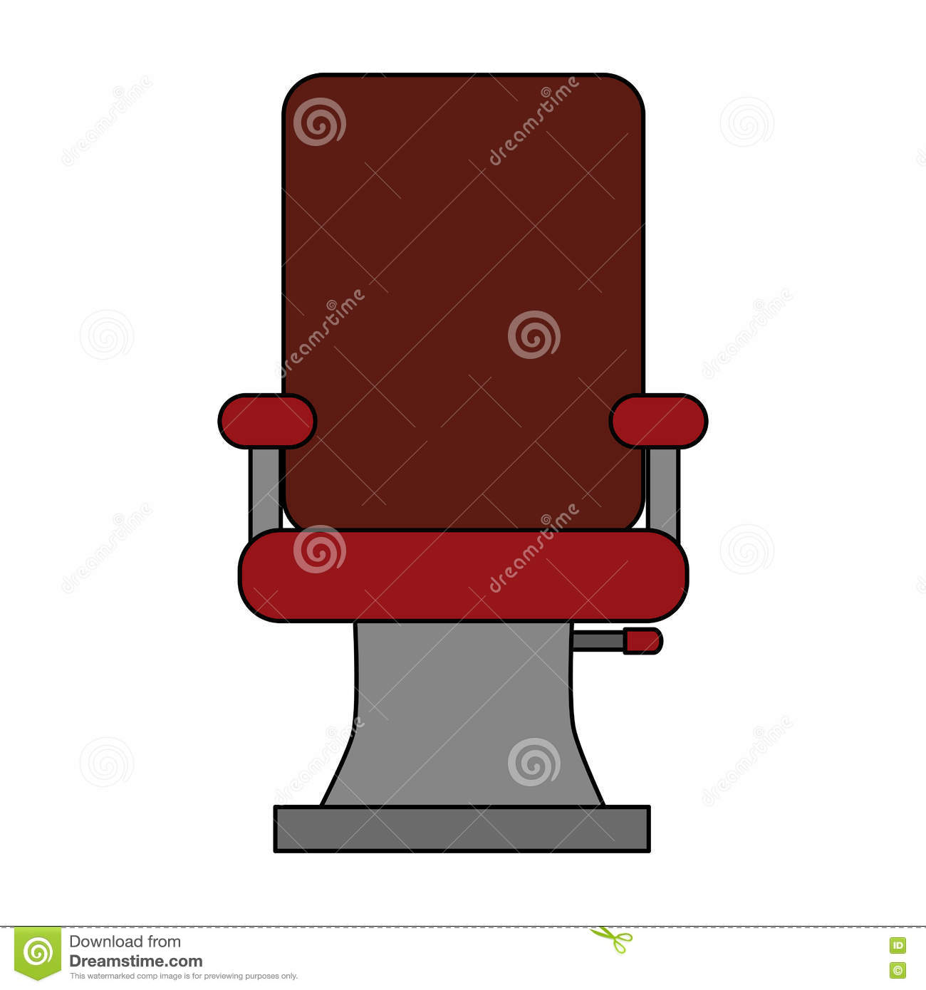 Barbershop chair design illustration