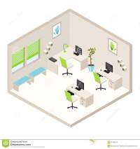 Isometric Office Room Stock Vector - Image: 61796574