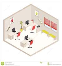 Isometric office stock vector. Image of office, indoor ...
