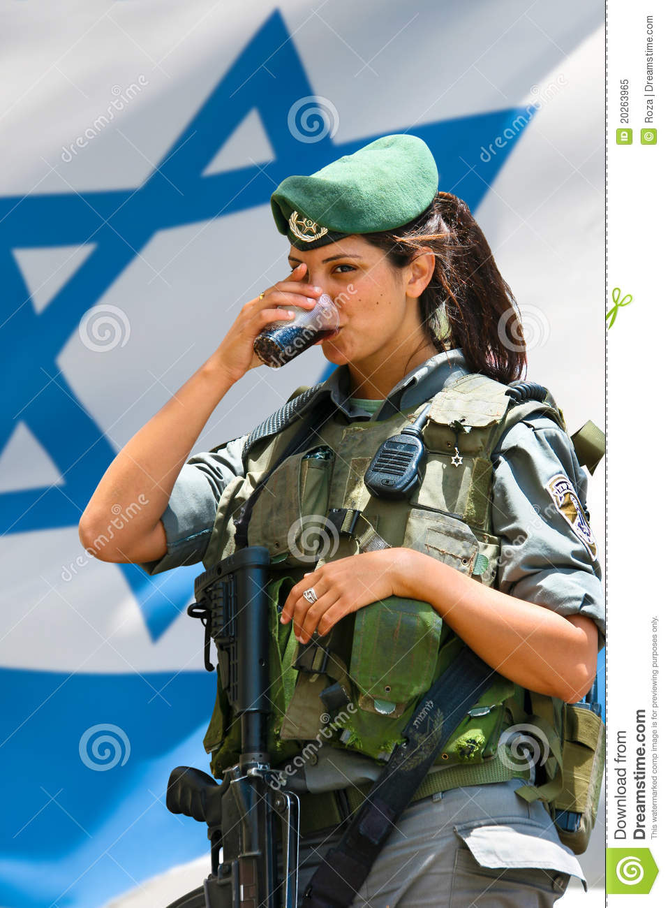 American Flag Pin Up Girl Wallpaper Israeli Army Girl Editorial Image Image Of Jerusalem
