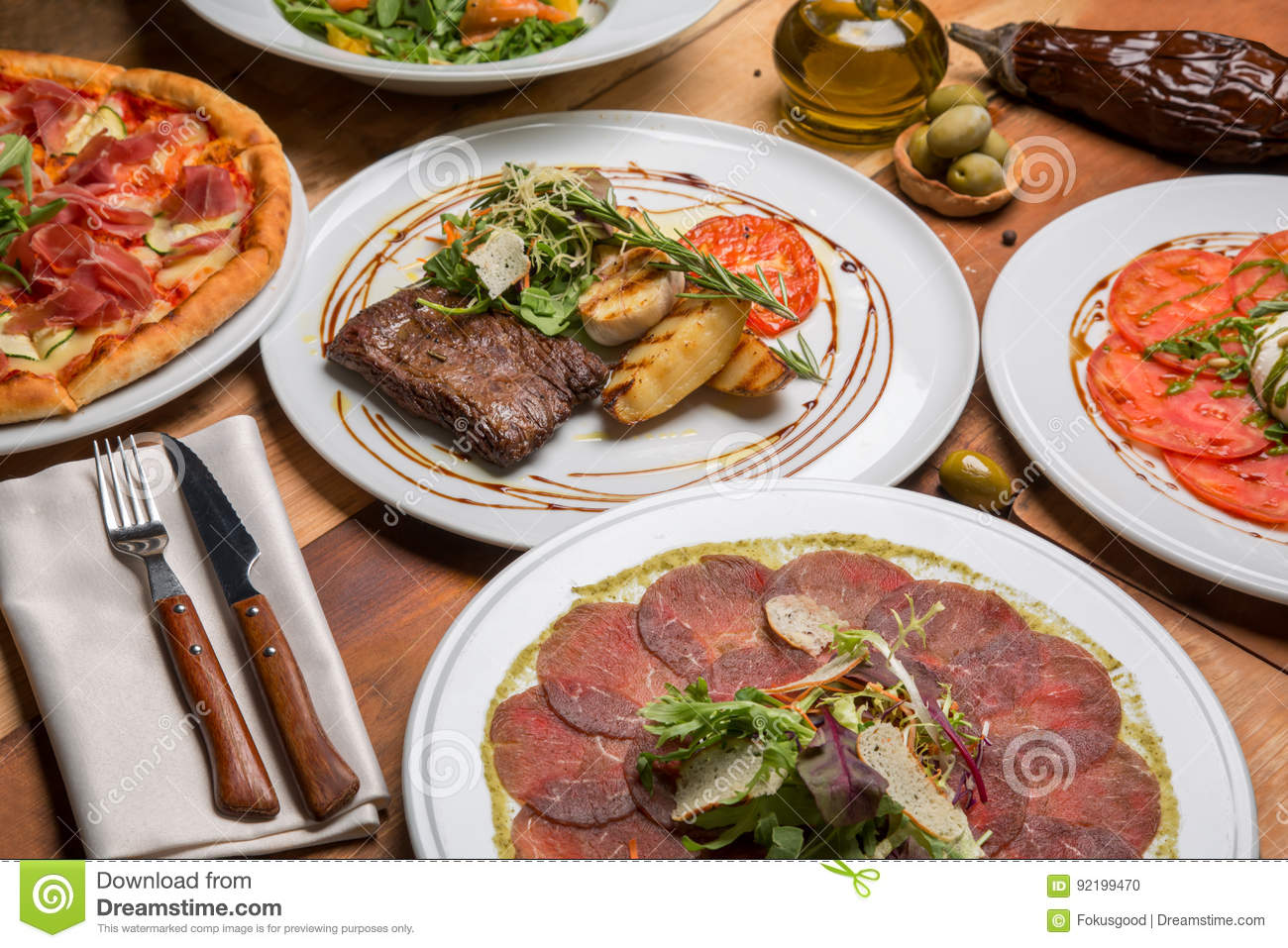 Food Nearby Italian Food On A Nearby Table Stock Photo Image Of Gourmet