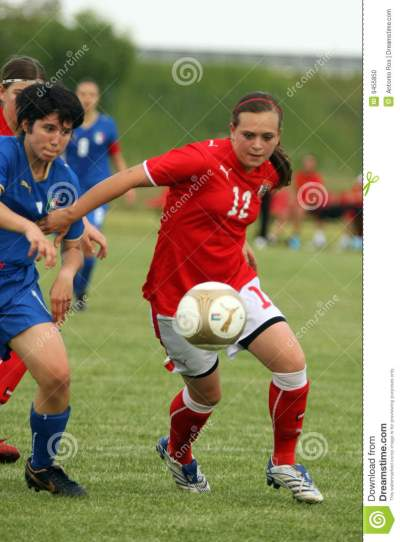 Italy - Austria, Female Soccer U17; Friendly Match Editorial Image - Image: 9455850