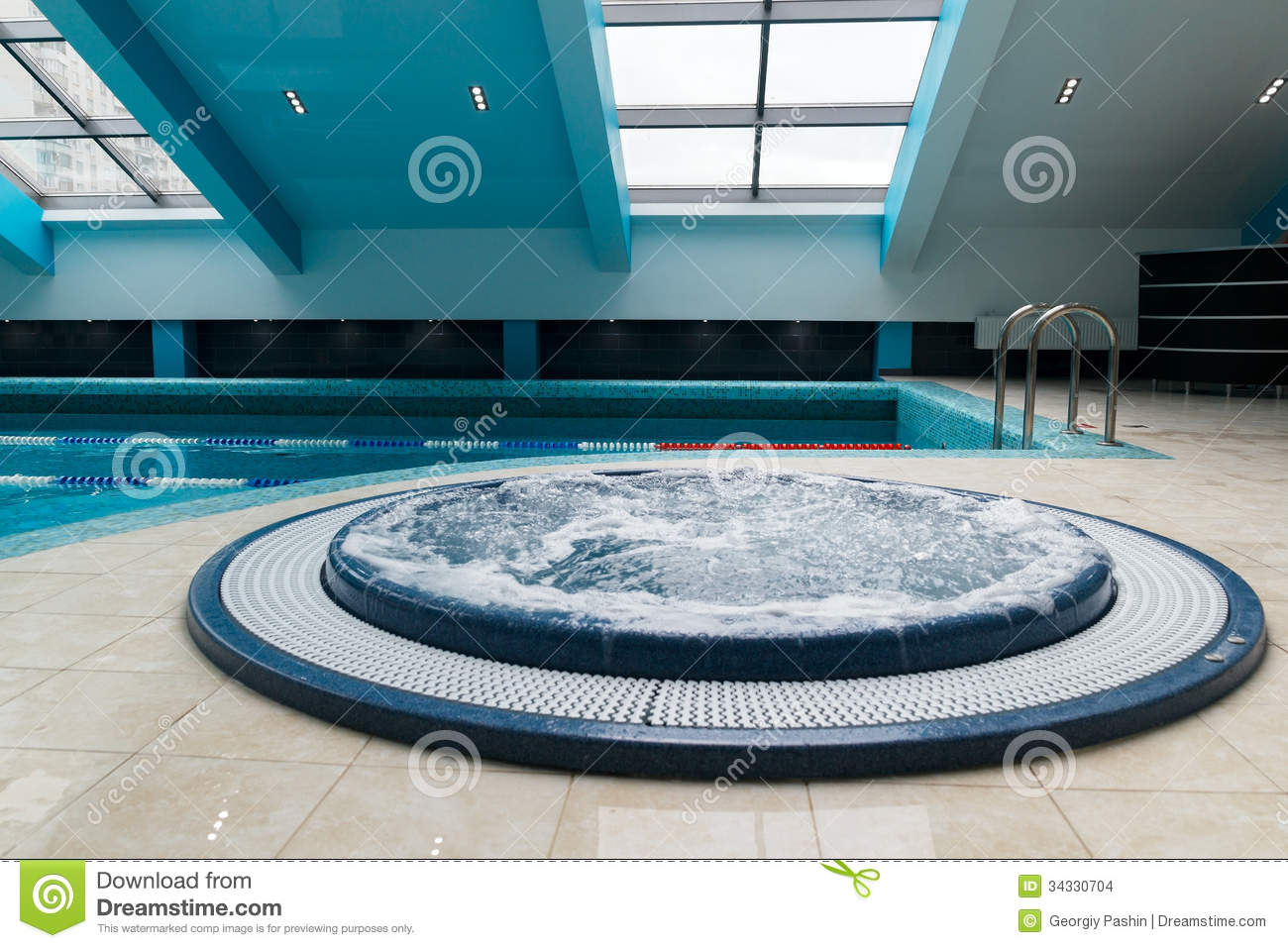 Jacuzzi Pool Hot Tub Jacuzzi Bathtub Near Swimming Pool Stock Images Image