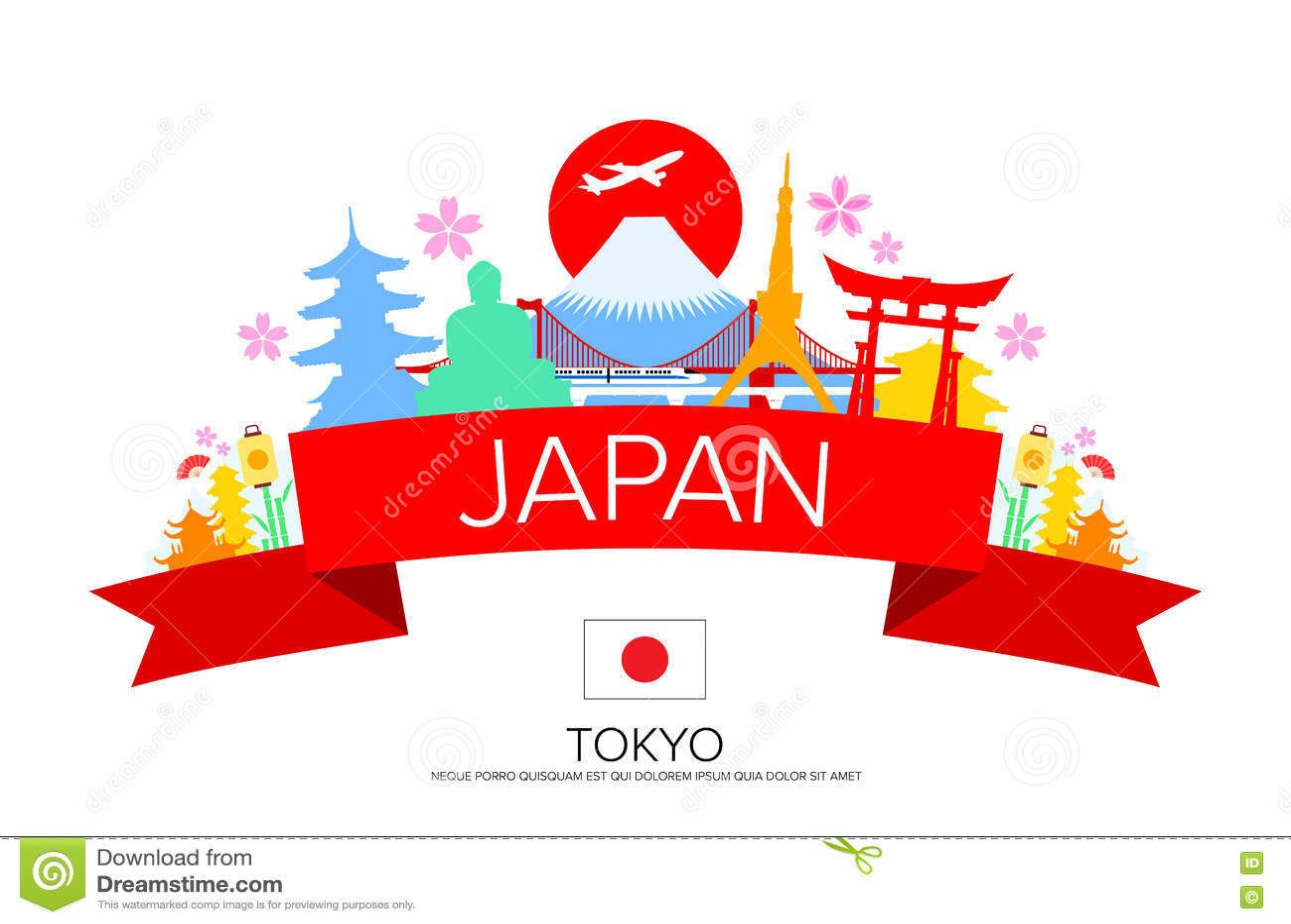 3d Fall Wallpaper Japan Tokyo Travel Landmarks Stock Vector Image 72004185