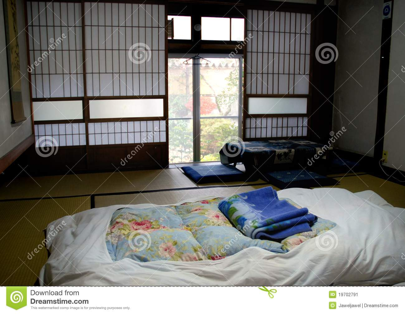 Chambre Japonaise Traditionnelle Japanese Bedroom Stock Image Image Of Drawing Graphic
