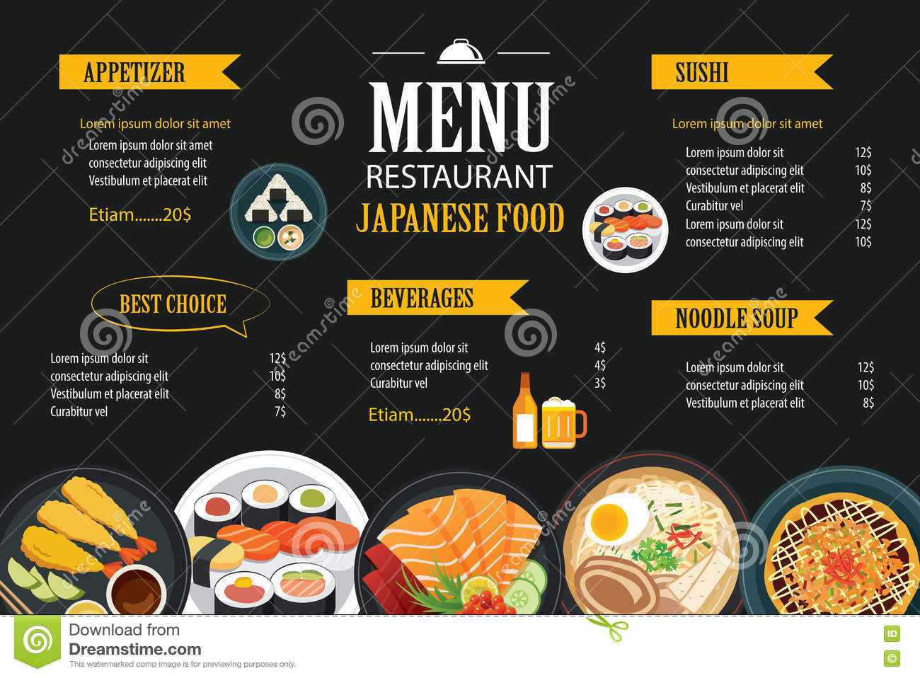 Animated Fish Wallpaper Hd Japanese Food Menu Restaurant Brochure Design Template