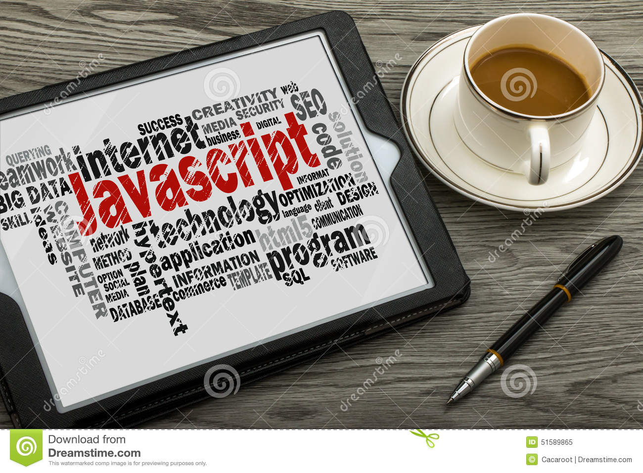 Javascript Cloud Javascript Word Cloud Stock Image Image Of Database 51589865