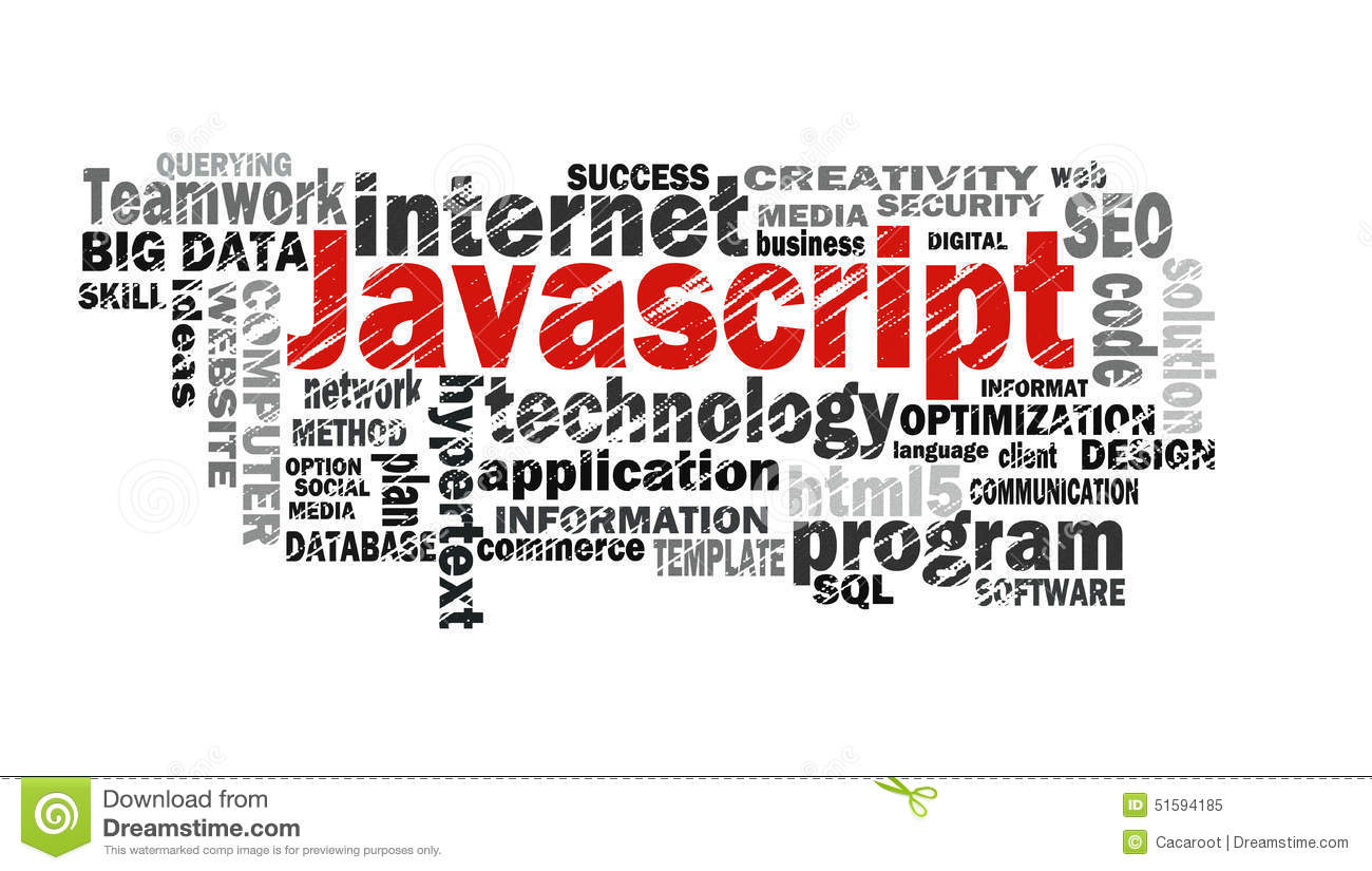Javascript Cloud Javascript Word Cloud Stock Illustration Illustration Of