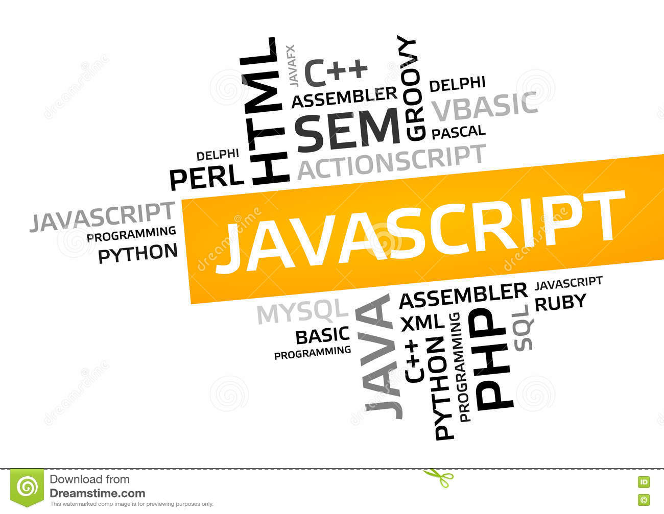 Javascript Cloud Javascript Word Cloud Tag Cloud Vector Graphic Stock