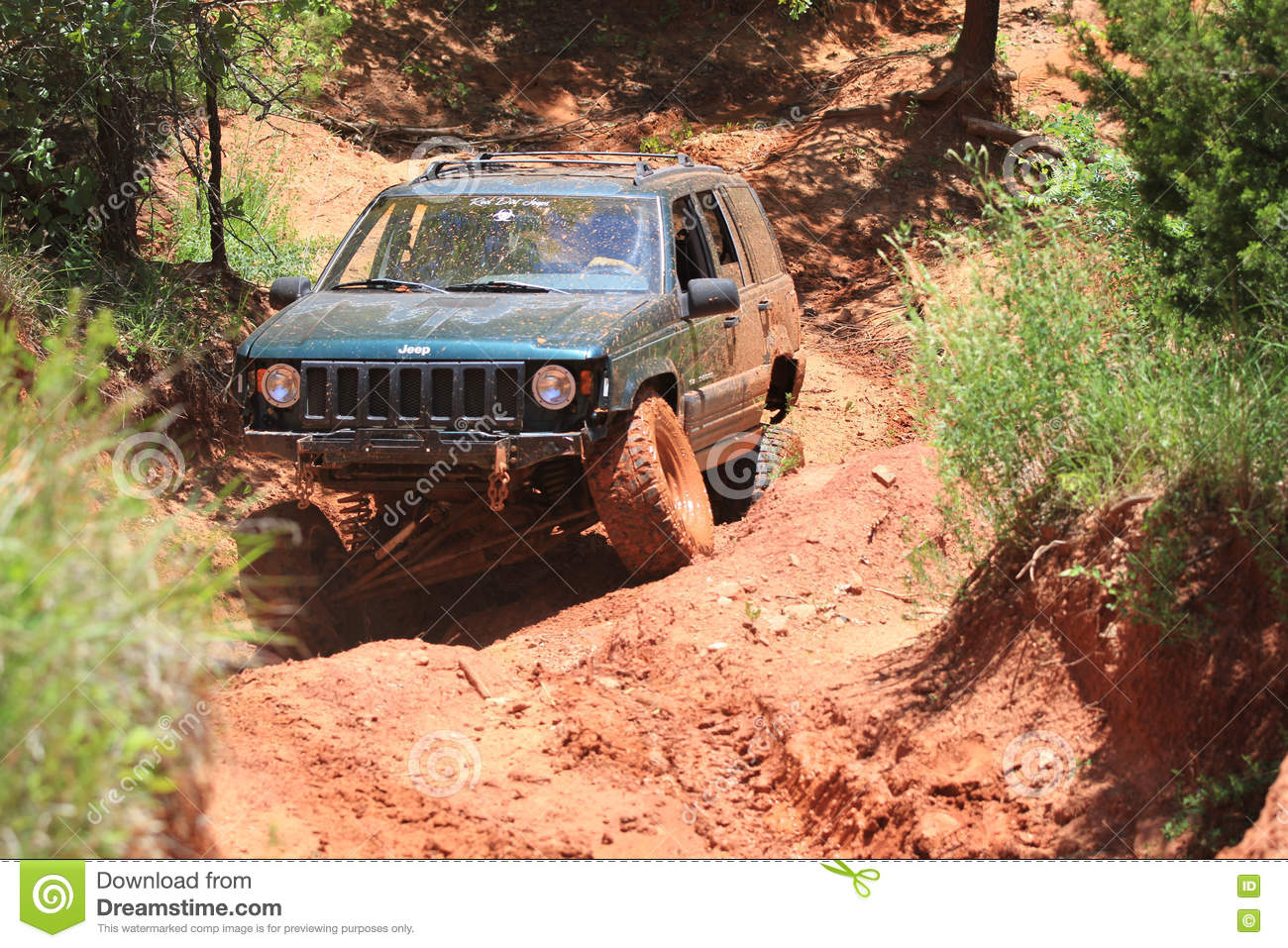 Jeep Trails Jeep Action At Oklahoma Off Road Park Editorial Photo Image Of