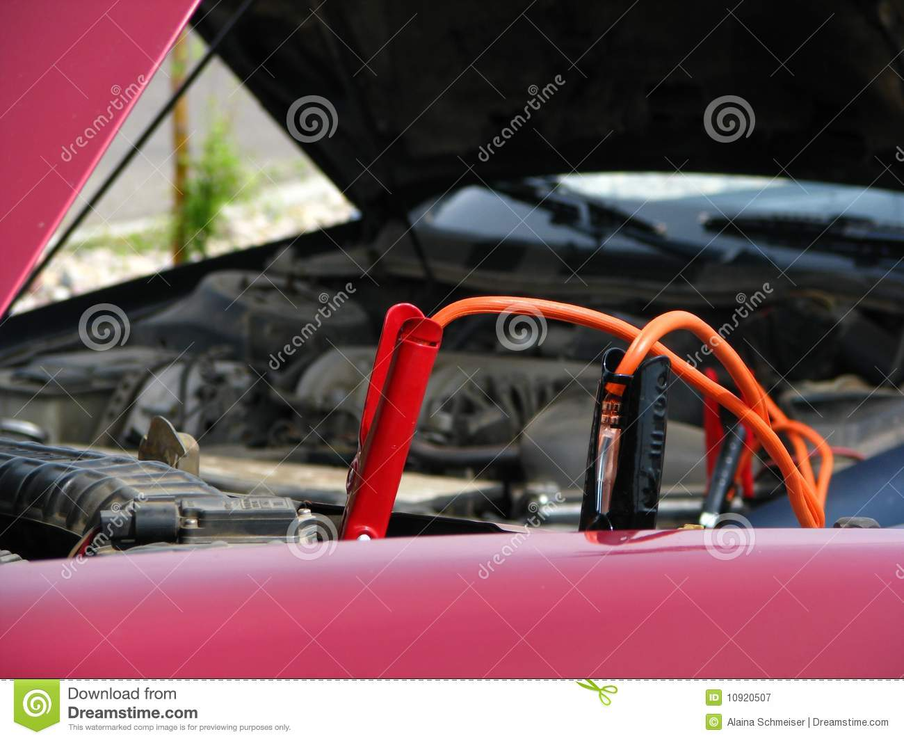 Startkabels Gamma Jumper Cables Royalty Free Stock Photography Image 10920507